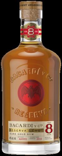 Bacardi 8 años, 70 cl., 40% alc.-0