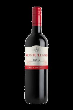 Monte LLano Tempranillo, 75 cl., -0