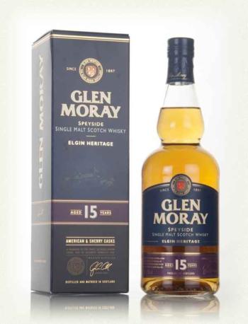 Glen Moray 15 years old, Elgin Heritage, 70 cl., 40% alc-0