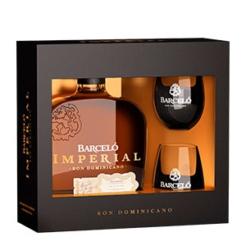 Ron Barceló Imperial Giftpack met 2 glazen, 70 cl., 40% alc.-0