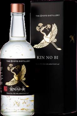 """""""KIN NO BI"""" Kyoto Dry Gin, Ki No Bi with Gold Leaf, 70 cl., 45,7% alc.-0"""