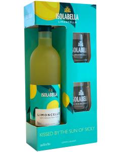 Isolabella Limoncello geschenk met 2 glazen, 70 cl., 30% alc.-0