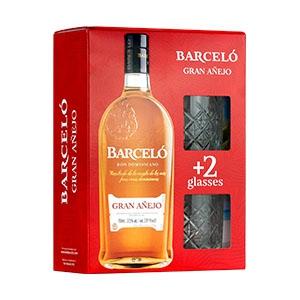 Barceló Gran Añejo 70cl met 2 glazen, 37,5% alc-0